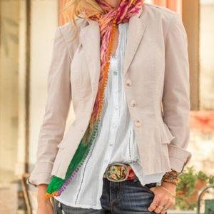 Sundance Cotton Frayed Blazer